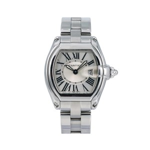 Cartier Cartier Roadster W62016V3 36MM Silver Dial With Stainless Steel Bracel