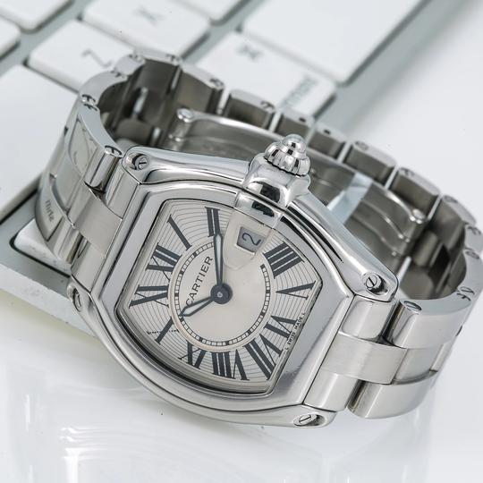 Cartier Cartier Roadster W62016V3 36MM Silver Dial With Stainless Steel Bracel Image 1