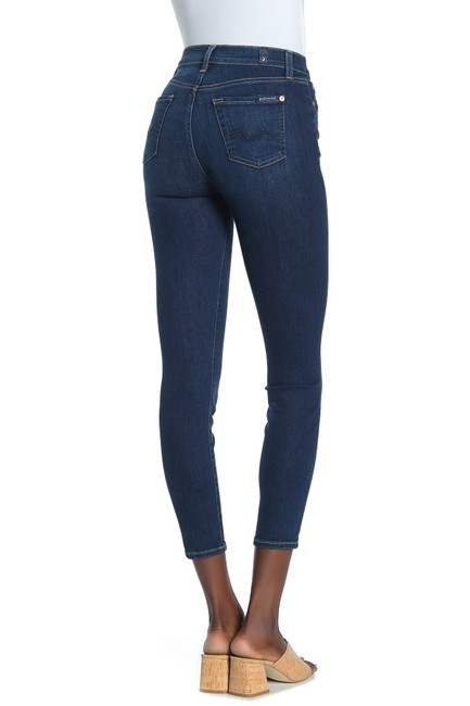 7 For All Mankind Skinny Jeans-Dark Rinse Image 4