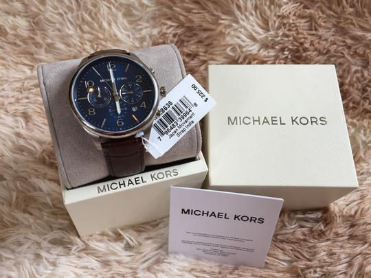Michael Kors Michael Kors MK8636 Classic 48MM Men's Chronograph Brown Leather Watch Image 1