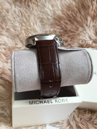 Michael Kors Michael Kors MK8636 Classic 48MM Men's Chronograph Brown Leather Watch Image 2