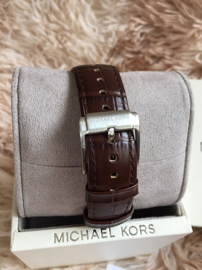 Michael Kors Michael Kors MK8636 Classic 48MM Men's Chronograph Brown Leather Watch Image 3