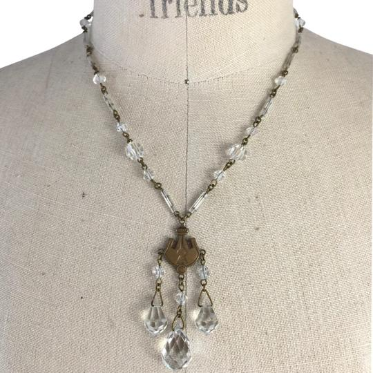 Preload https://img-static.tradesy.com/item/26159458/crystal-art-deco-brass-and-glass-lavaliere-necklace-0-1-540-540.jpg