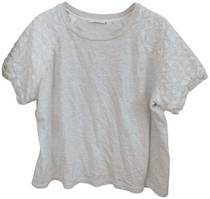 d&cO Embroidered Embroidery Sweatshirt Floral Embroidery Top gray