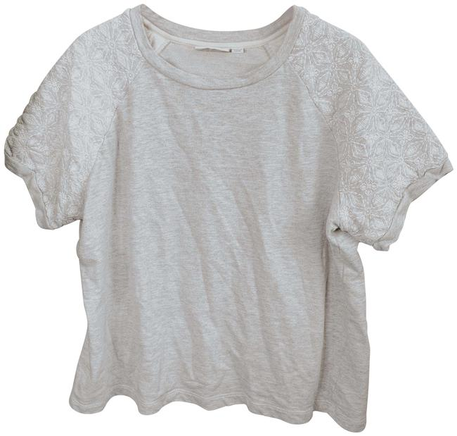 Preload https://img-static.tradesy.com/item/26159514/gray-and-white-floral-embroidered-blouse-size-18-xl-plus-0x-0-1-650-650.jpg
