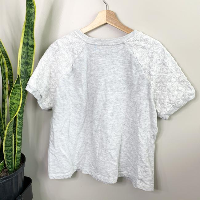 d&cO Embroidered Embroidery Sweatshirt Floral Embroidery Top gray Image 2