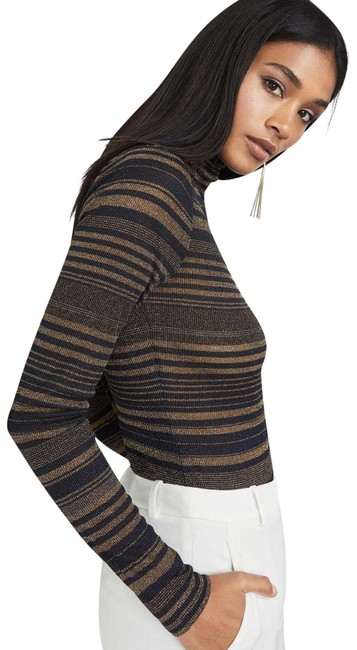 Item - Brinne Striped Turtleneck Black Gold Sweater