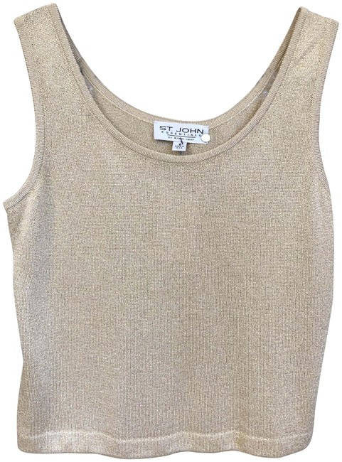 Item - Gold Essentials Sparkle Wool Blend Sleeveless Knit Tank Top/Cami Size 6 (S)
