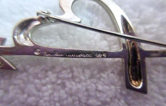 Tiffany Vintage Arrow Sterling Silver Pin Brooch Heart Kiss Signed Image 11