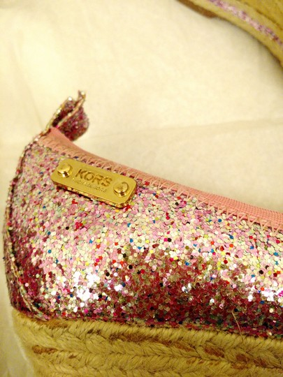 Michael Kors Tomato Closed Toes Us Size 7 Bow Pink Silver Platforms Image 4