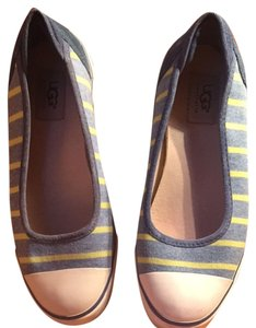 UGG Australia Blue with Lime green Stripes Flats