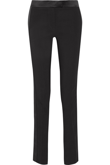 Tom Ford Satin Tuxedo Stretch Trouser Pants Black Image 1
