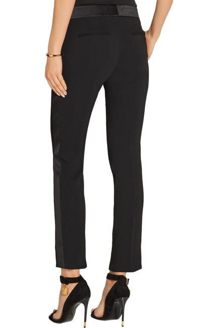 Tom Ford Satin Tuxedo Stretch Trouser Pants Black Image 2