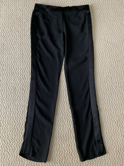 Tom Ford Satin Tuxedo Stretch Trouser Pants Black Image 3