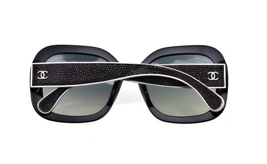 Chanel CH 5272-Q c.501/S8 55mm Galuchat Stingray Leather Oversized Polarized Image 3