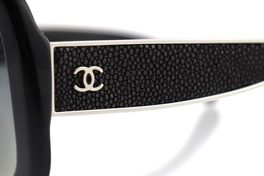 Chanel CH 5272-Q c.501/S8 55mm Galuchat Stingray Leather Oversized Polarized Image 5