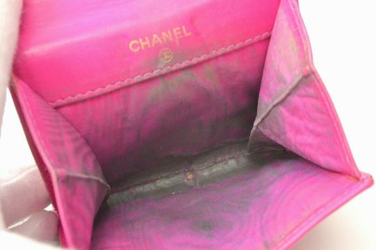 Chanel Chanel CC Caviar Skin Leather Compact Wallet Purse Coin Case Pink Coco Image 4