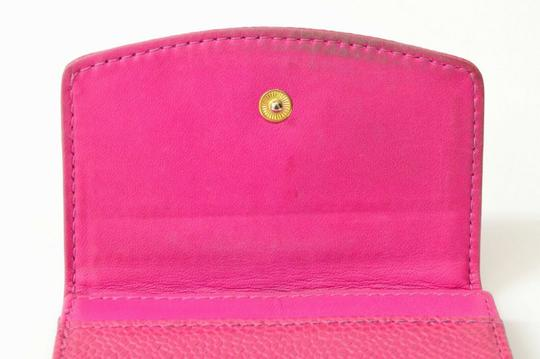 Chanel Chanel CC Caviar Skin Leather Compact Wallet Purse Coin Case Pink Coco Image 5