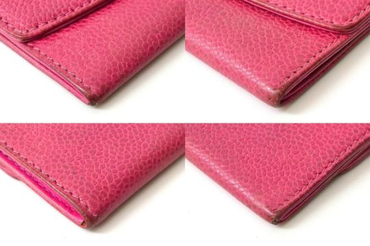 Chanel Chanel CC Caviar Skin Leather Compact Wallet Purse Coin Case Pink Coco Image 7