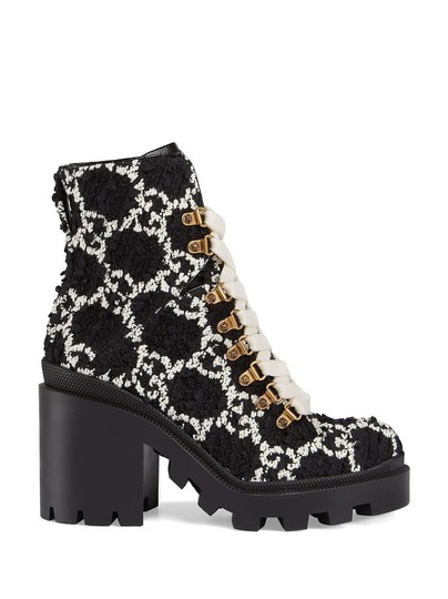 Gucci Black and White Boots Image 4