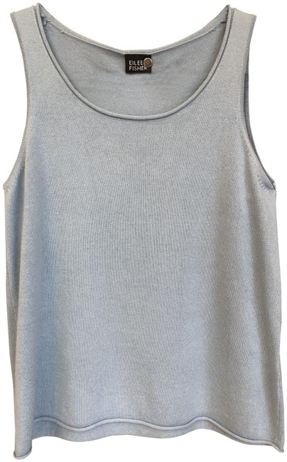 Preload https://img-static.tradesy.com/item/26159742/eileen-fisher-light-blue-silk-cashmere-blend-sleeveless-sweater-tank-topcami-size-2-xs-0-1-650-650.jpg