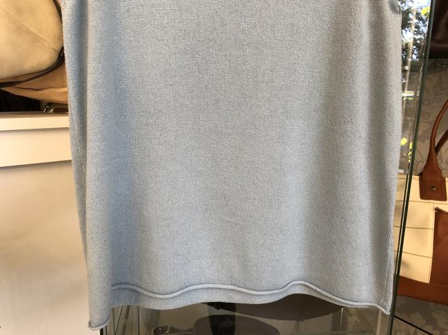 Eileen Fisher Silk Cashmere Sweater Top Light Blue Image 2