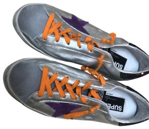 Golden Goose Deluxe Brand silver black with purple Athletic