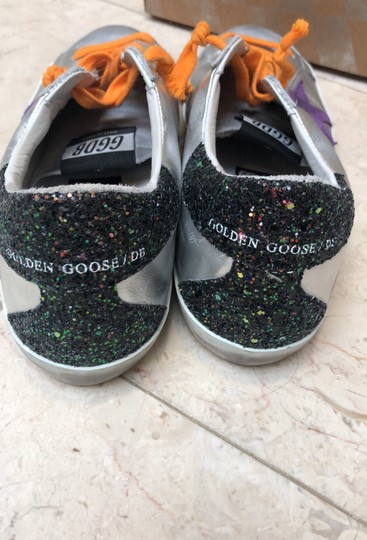 Golden Goose Deluxe Brand silver black with purple Athletic Image 3