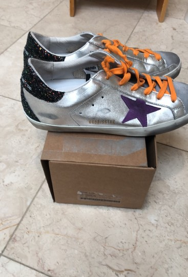 Golden Goose Deluxe Brand silver black with purple Athletic Image 5