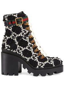 Gucci Black and White Boots