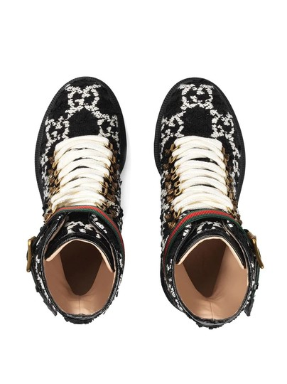 Gucci Black and White Boots Image 3