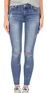 Black Orchid Denim Frayed Skinny Jeans
