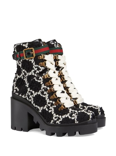 Gucci Black and White Boots Image 1