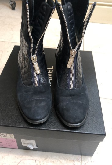 Chanel navy Boots Image 1