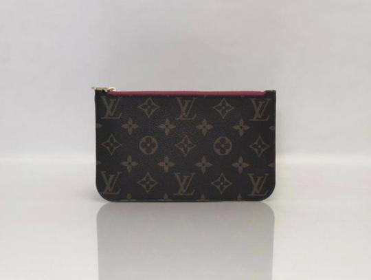 Louis Vuitton Lv Neverfull Neverfull Pm Monogram Pouch Wristlet in Brown Image 2