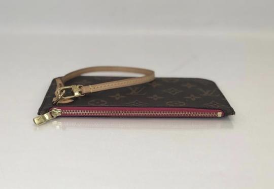 Louis Vuitton Lv Neverfull Neverfull Pm Monogram Pouch Wristlet in Brown Image 3