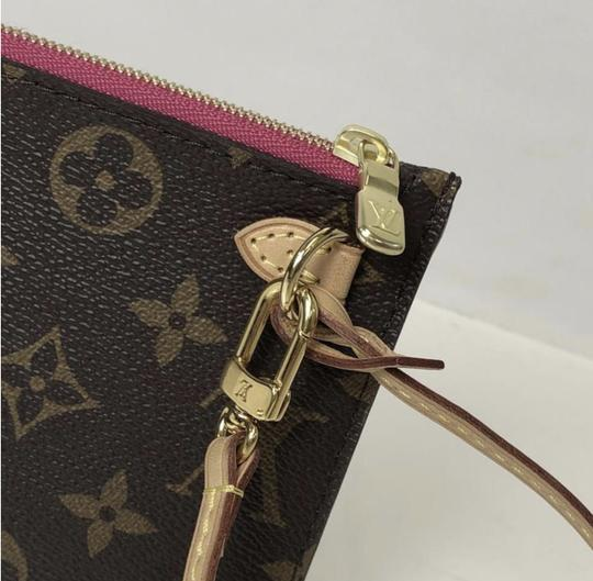 Louis Vuitton Lv Neverfull Neverfull Pm Monogram Pouch Wristlet in Brown Image 6