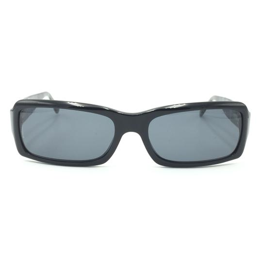 Chanel Rectangular 5125 501/87 Black Quilted Silver Gray Sunglasses. Image 2