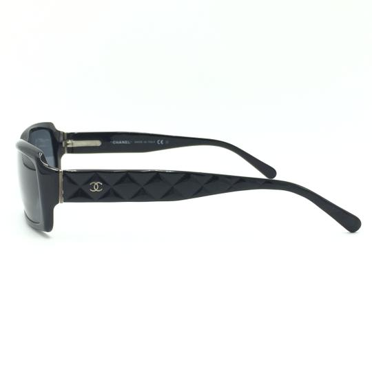 Chanel Rectangular 5125 501/87 Black Quilted Silver Gray Sunglasses. Image 4