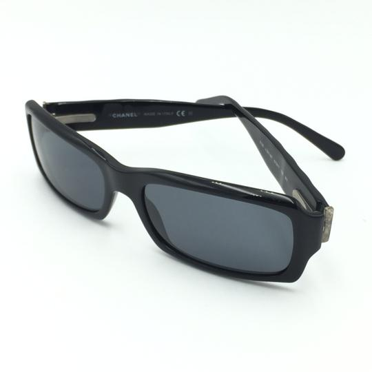 Chanel Rectangular 5125 501/87 Black Quilted Silver Gray Sunglasses. Image 7