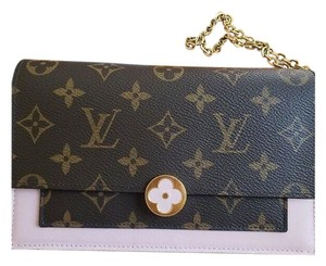 Louis Vuitton Chain Floral Wallet Cross Body Bag