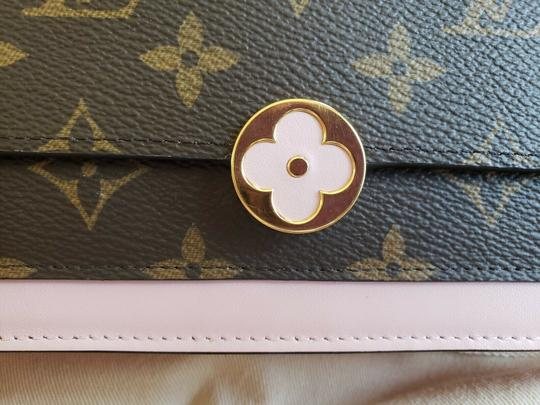 Louis Vuitton Chain Floral Wallet Cross Body Bag Image 1
