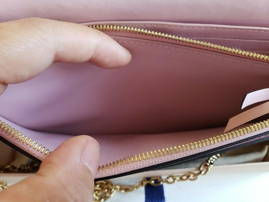 Louis Vuitton Chain Floral Wallet Cross Body Bag Image 6