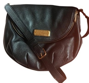 Marc by Marc Jacobs Workwear Leather Leather Foldover Zip Pocket Cross Body Bag