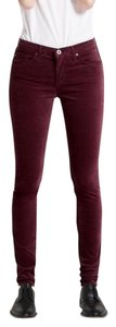 Ag Adriano Goldschmied Skinny Pants Red