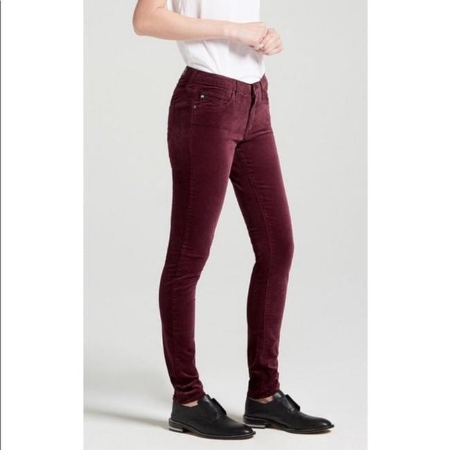 Ag Adriano Goldschmied Skinny Pants Red Image 1
