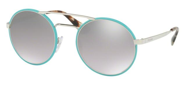 Prada Blue New Rounded Mirrored Spr 51s Vht1a0 Free 3 Day Shipping Sunglasses Prada Blue New Rounded Mirrored Spr 51s Vht1a0 Free 3 Day Shipping Sunglasses Image 1
