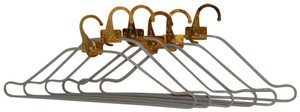 Louis Vuitton Louis Vuitton Brass Garment Clothes Luggage Set of 6 Hangers