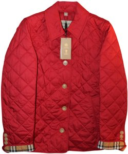 Burberry Long Sleeves Front Button Close Quilted Finish Cotton Lining Polyester Military Jacket