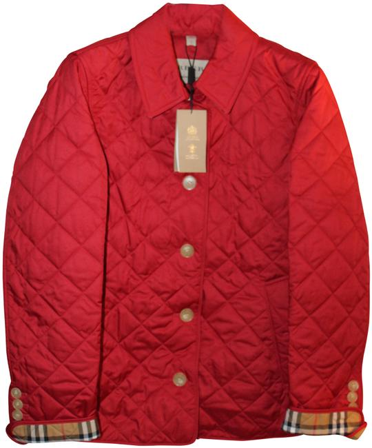 Item - Military Red Diamond Quilted In Jacket Size 12 (L)